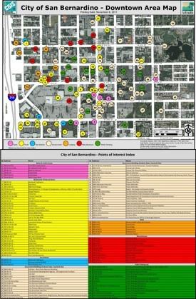 San Bernardino downtown map