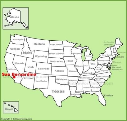 San Bernardino Location Map
