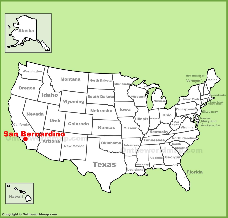 San Bernardino Map San Bernardino location on the U.S. Map San Bernardino Map