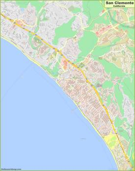 Detailed Map of San Clemente