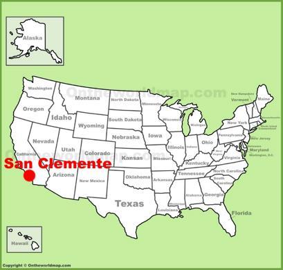 San Clemente Location Map