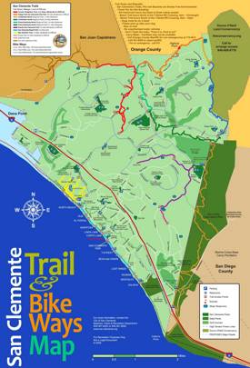 San Clemente Trails Map