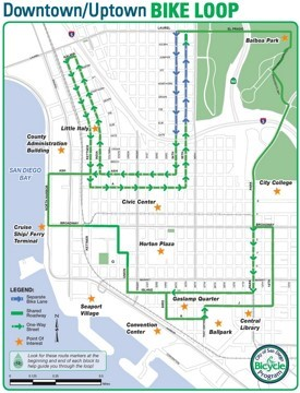 San Diego bike loop map
