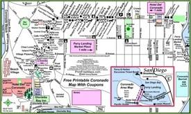 San Diego Coronado map