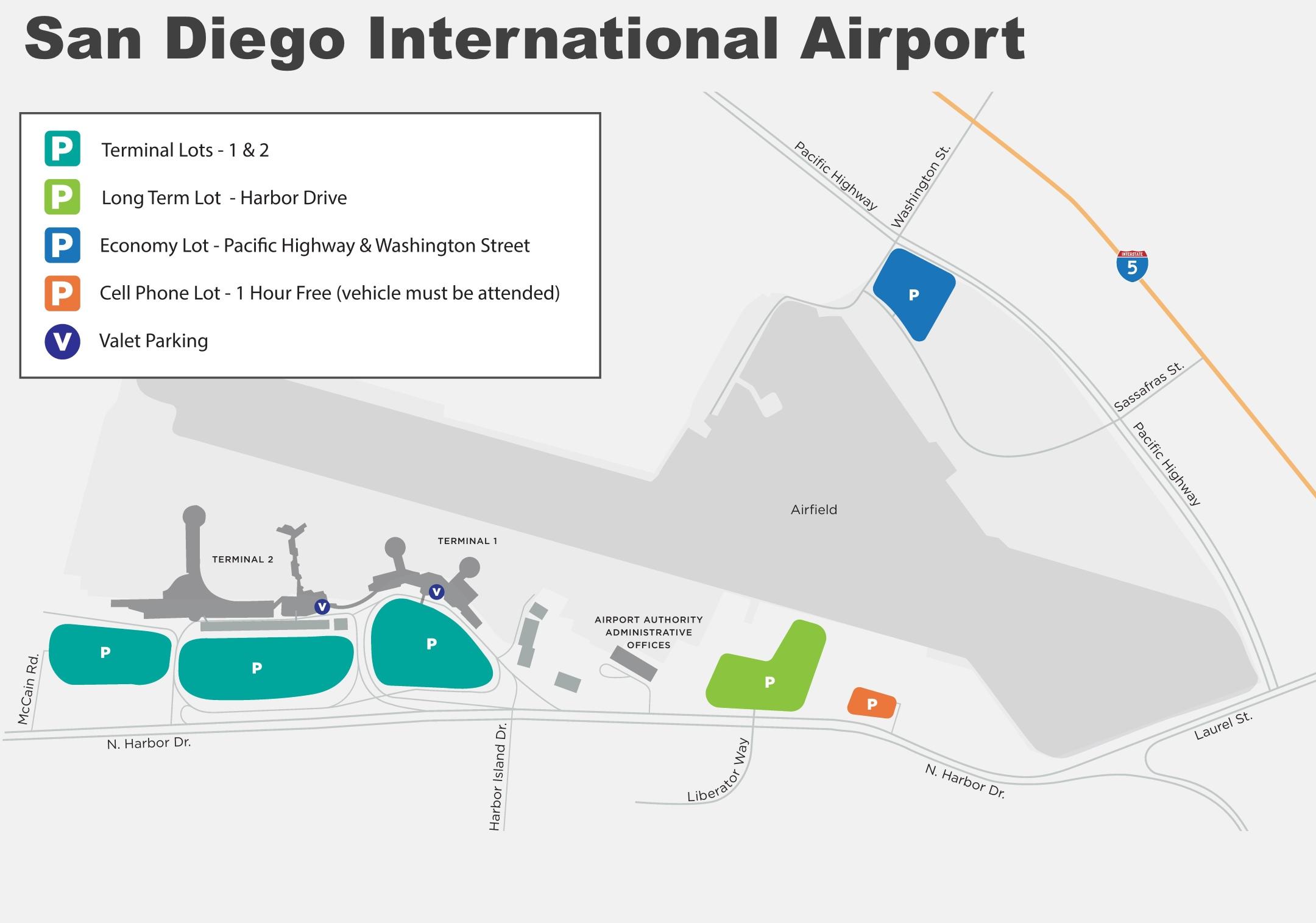 San Diego International Airport Map San Diego International Airport map