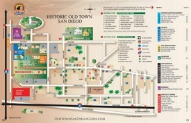 San Diego Old Town map