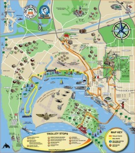San Diego tourist attractions map