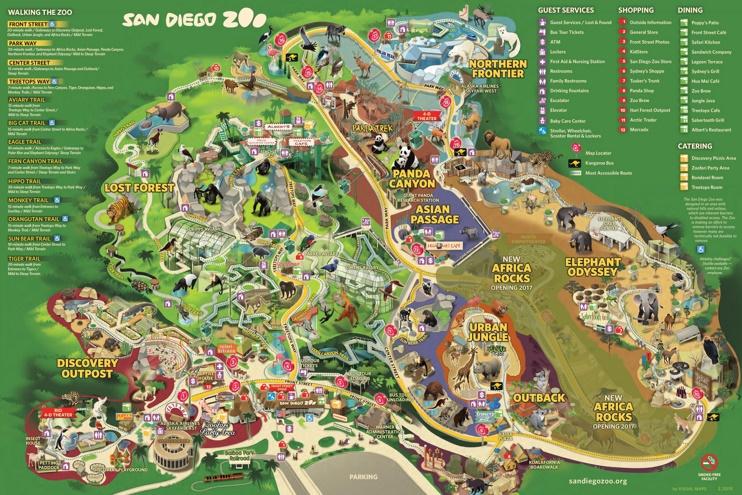 San Diego Zoo map