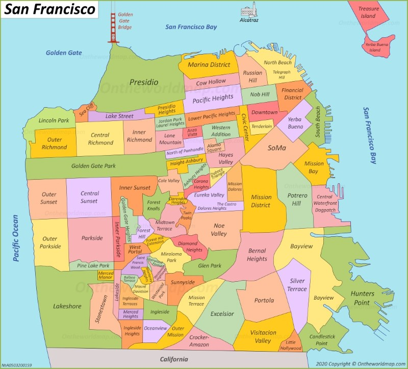 san francisco on usa map San Francisco Maps California U S Maps Of San Francisco