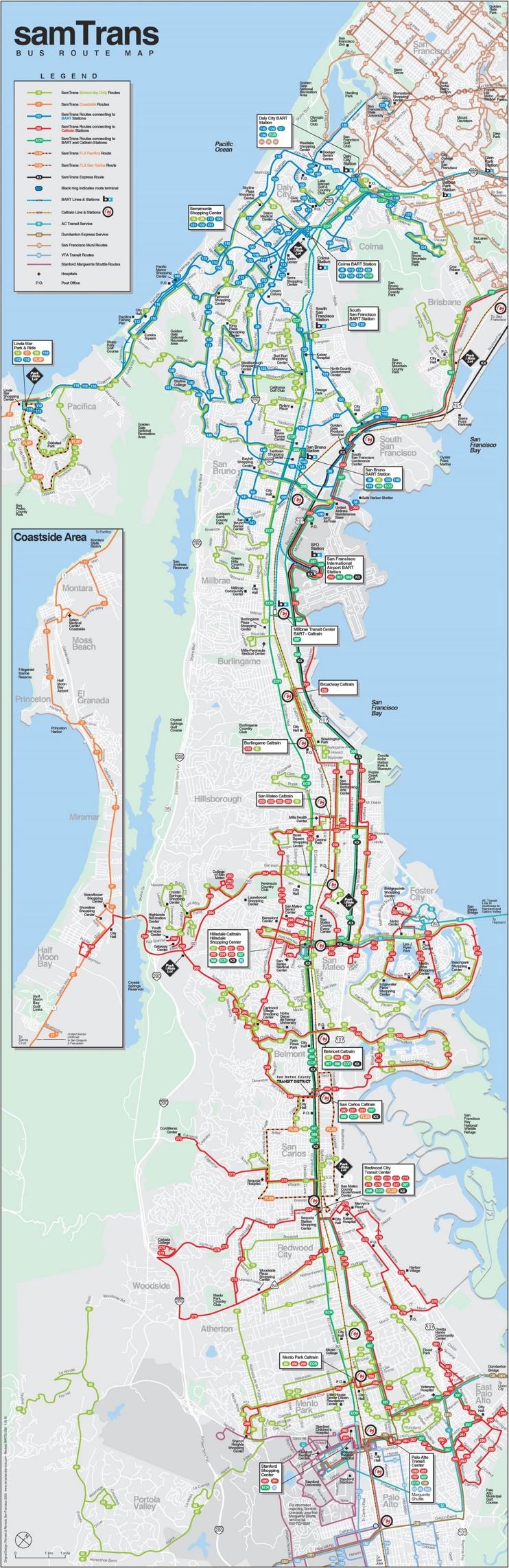 SamTrans map
