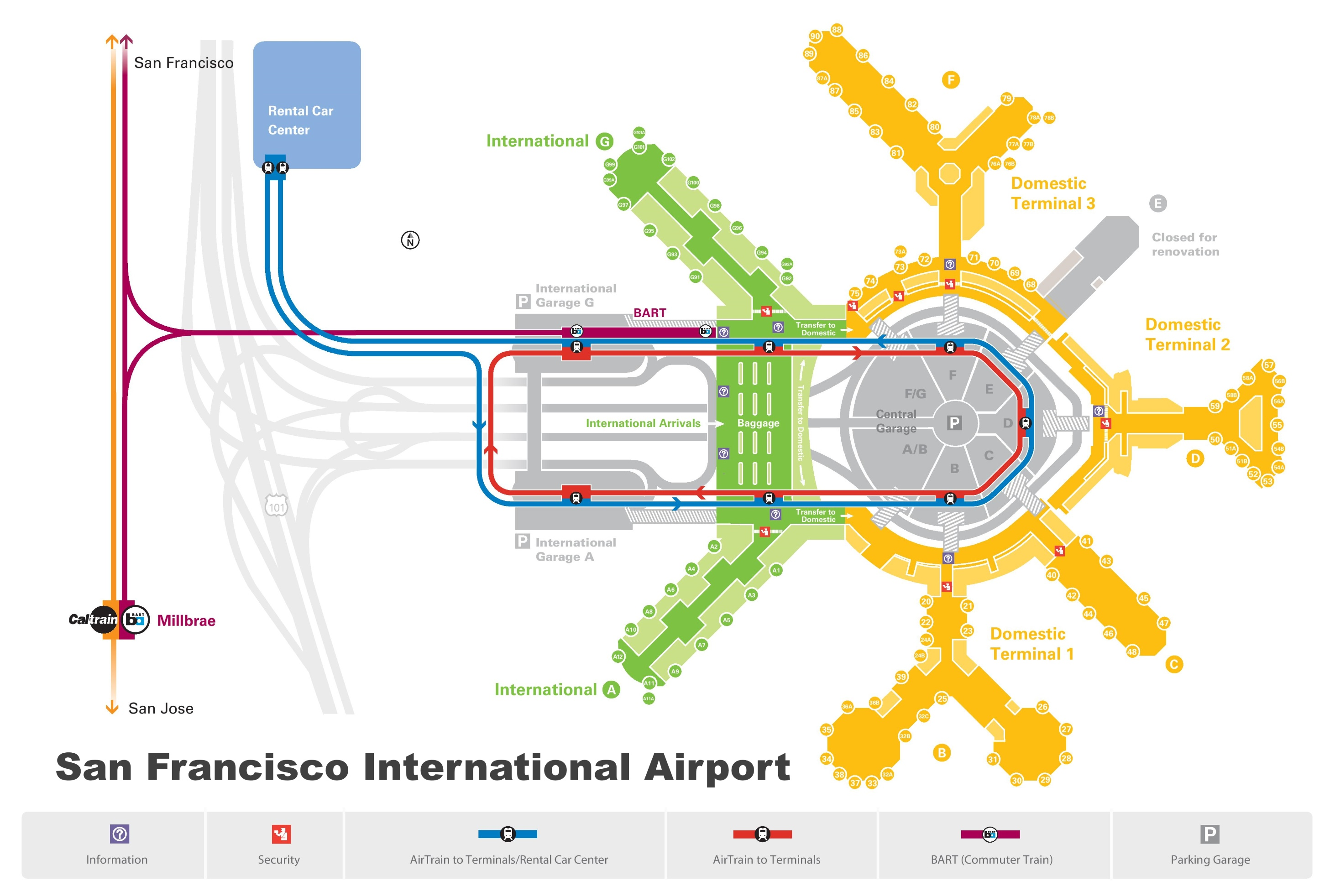 San Francisco Airport Map San Francisco airport map San Francisco Airport Map