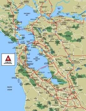 San Francisco Bay Area map