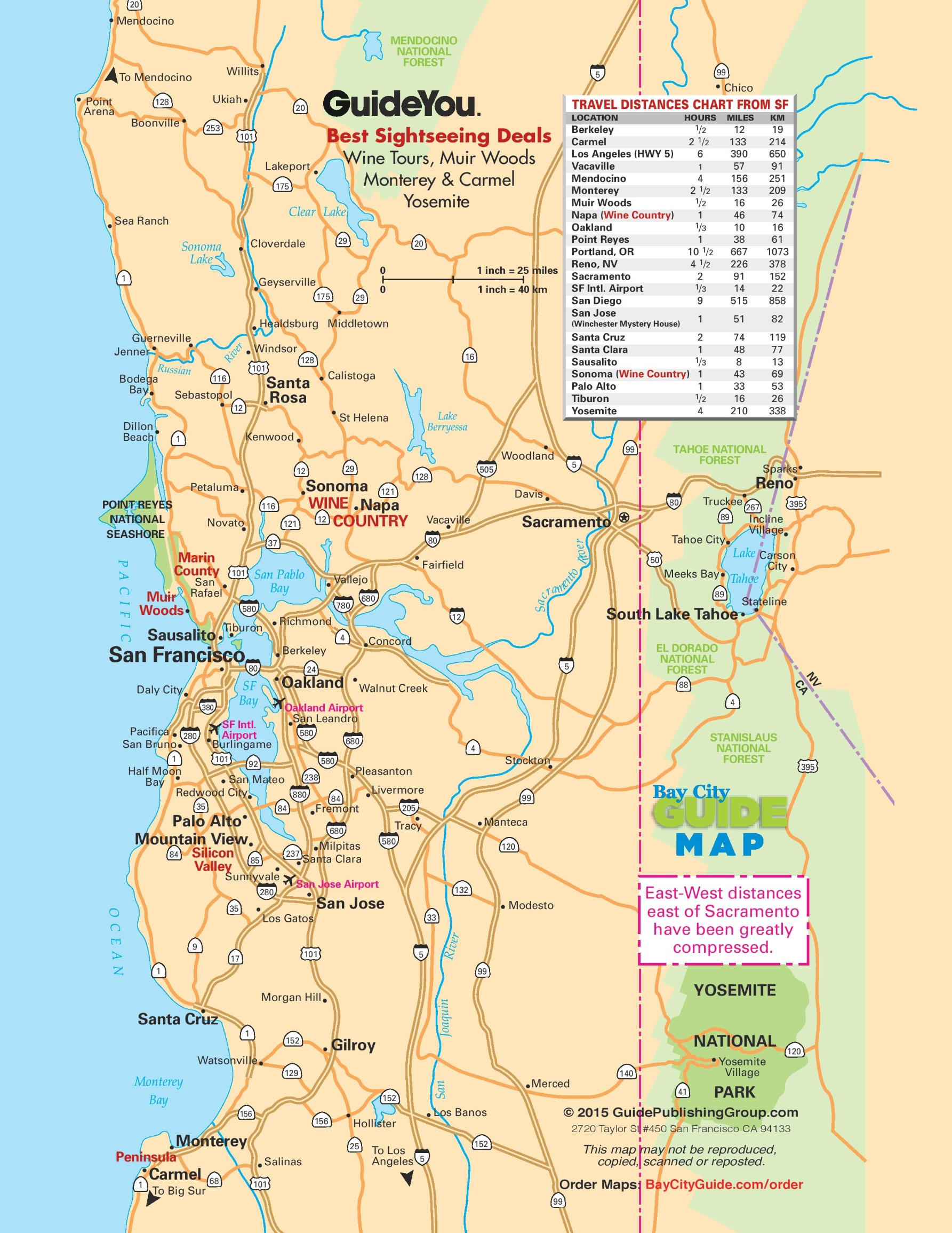 San Francisco Bay Area Road Map Reading and saying the names of cities. world maps
