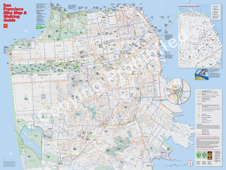 San Francisco bike map
