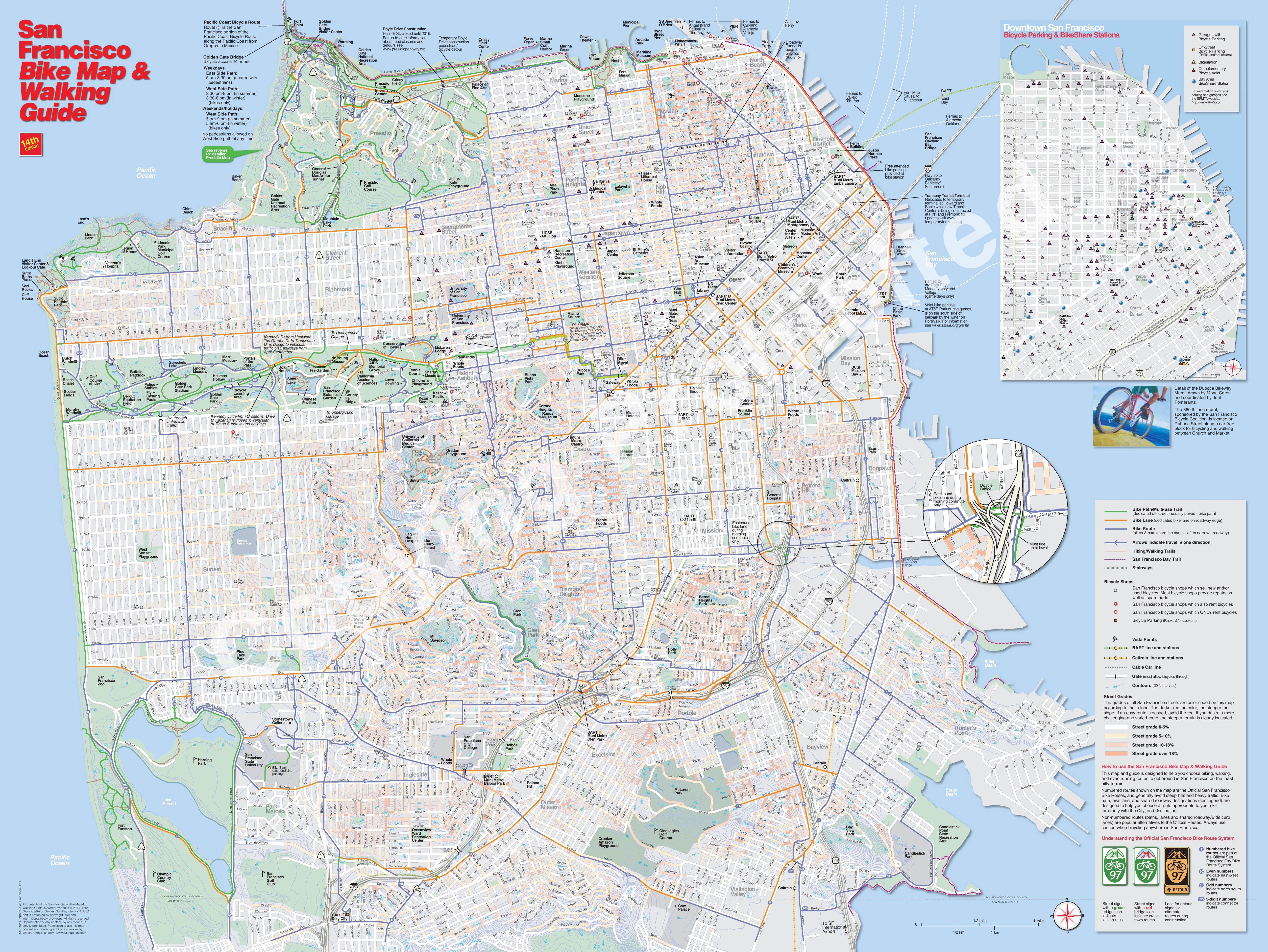 Sf Bike Map San Francisco bike map Sf Bike Map