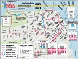 San Francisco bus map