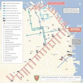 San Francisco cable car map