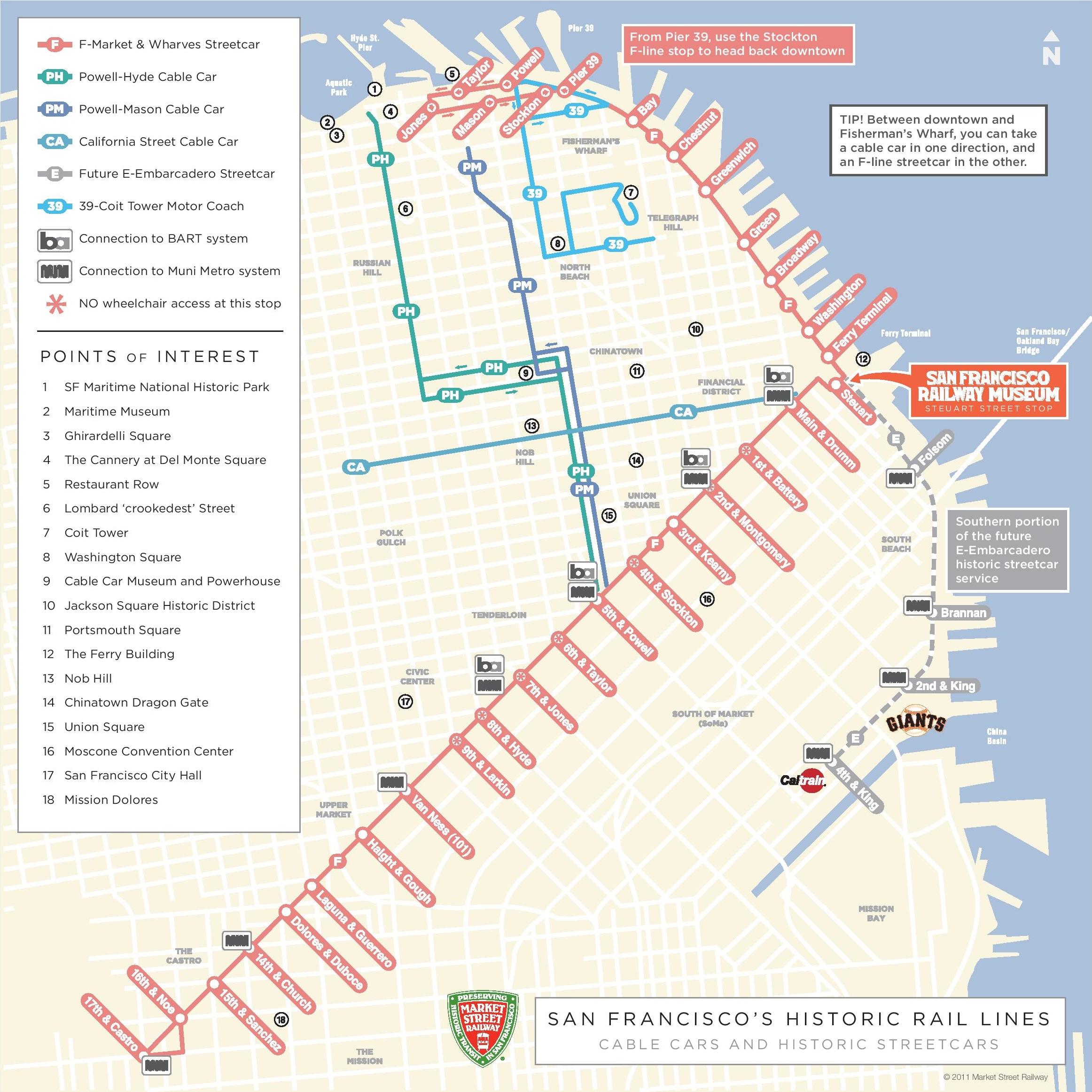 San Francisco Cable Car Map San Francisco cable car map San Francisco Cable Car Map