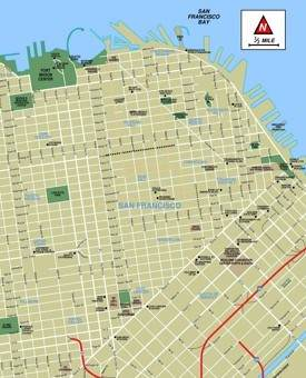 San Francisco downtown map