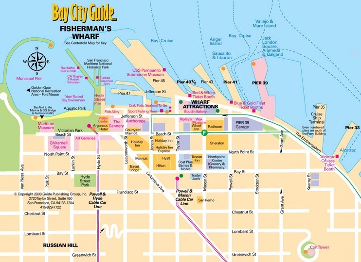 San Francisco Fishermans Wharf map
