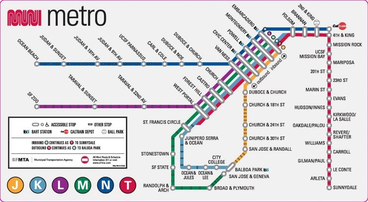 San Francisco metro map