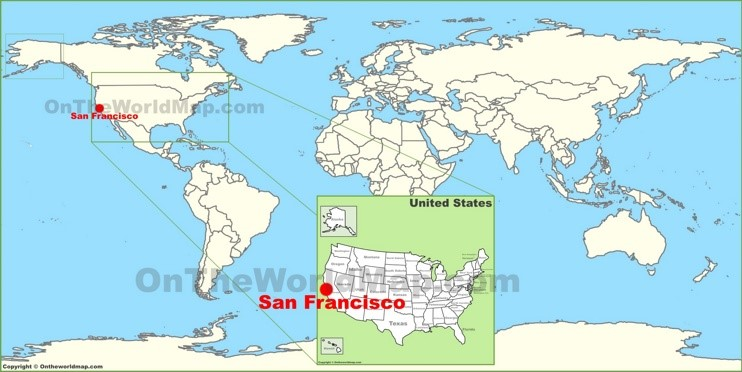 San Francisco on the World Map