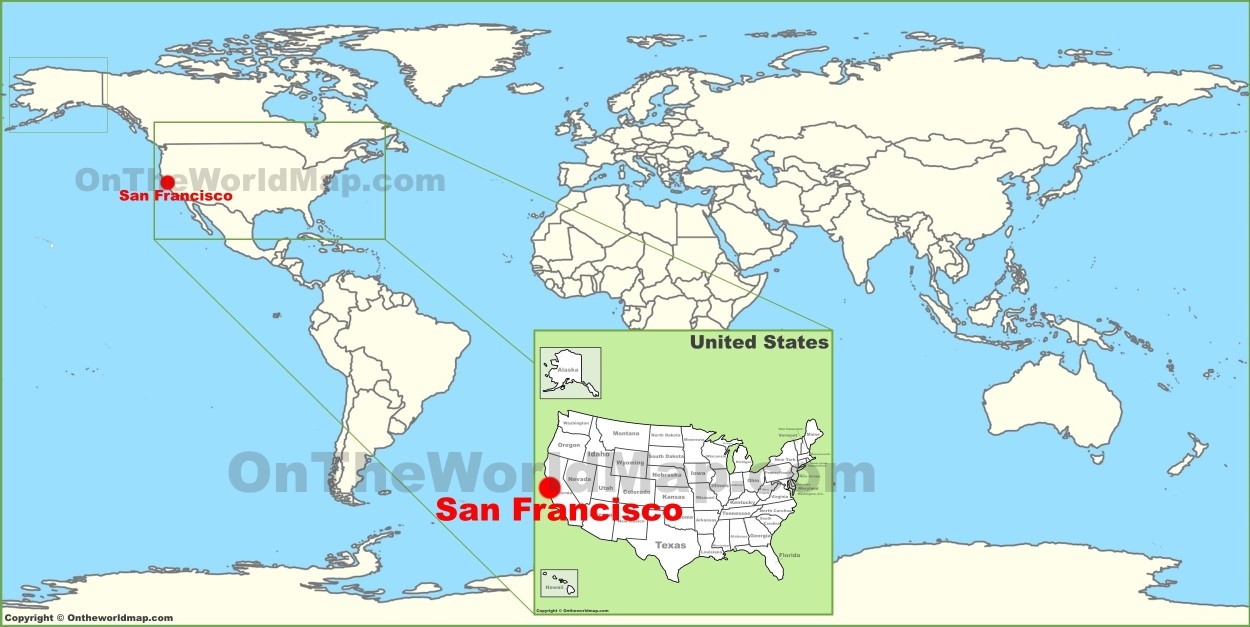 San Francisco On Map San Francisco on the World Map