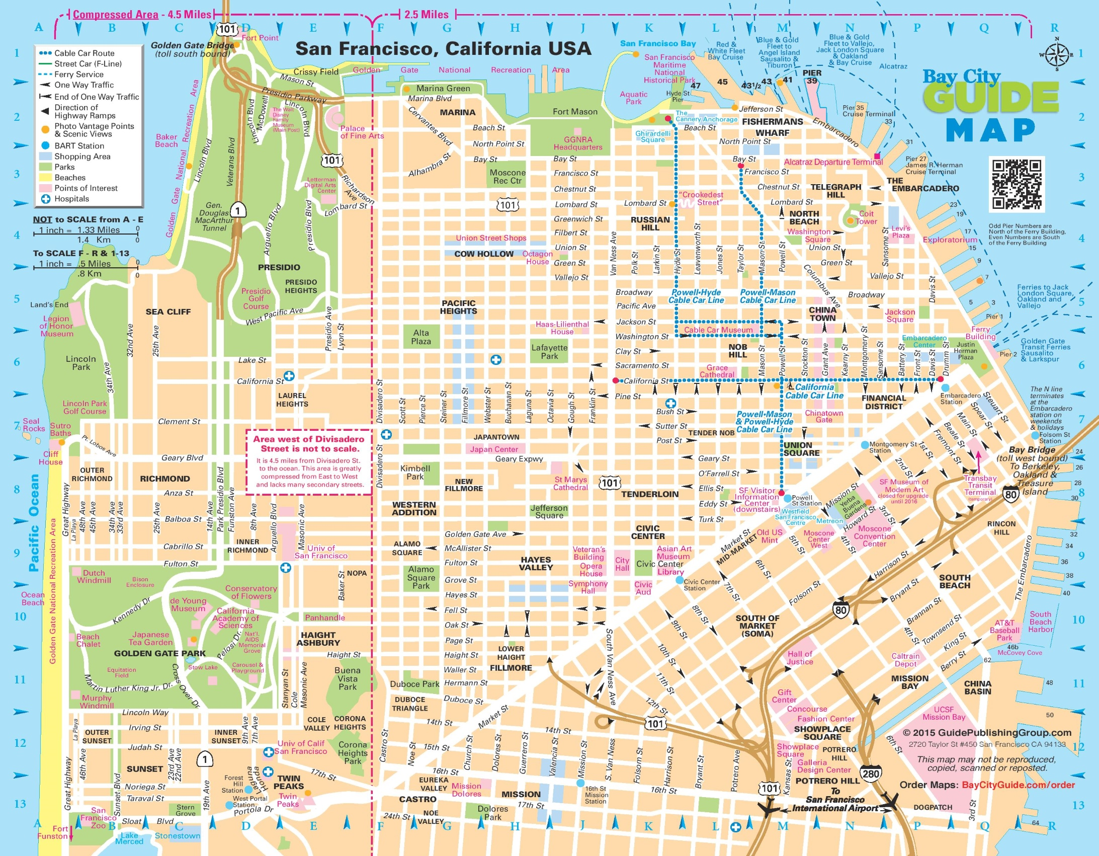 San Francisco City Map San Francisco street map