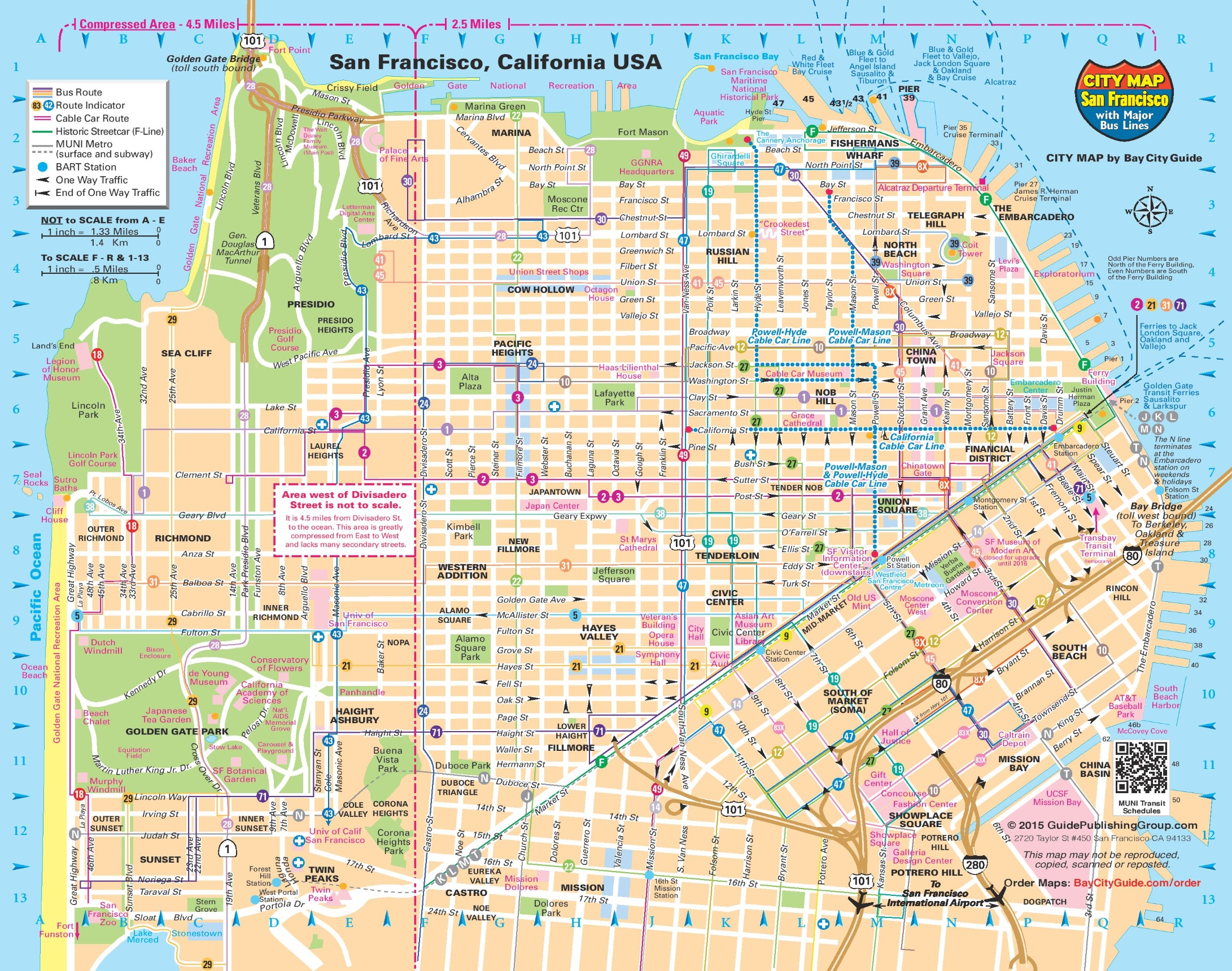 San Francisco transport map