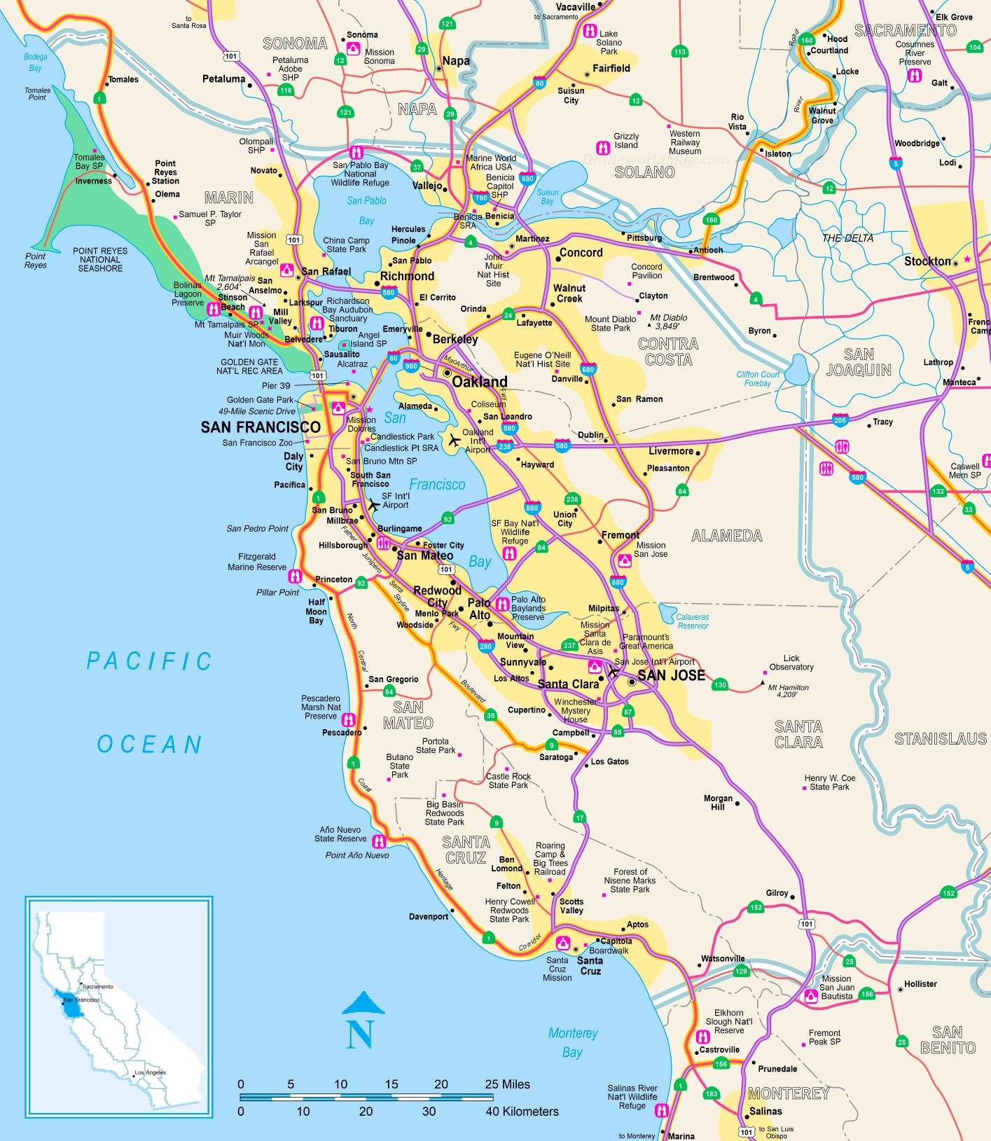 Picture of: Tourist Map Of San Francisco Bay Area