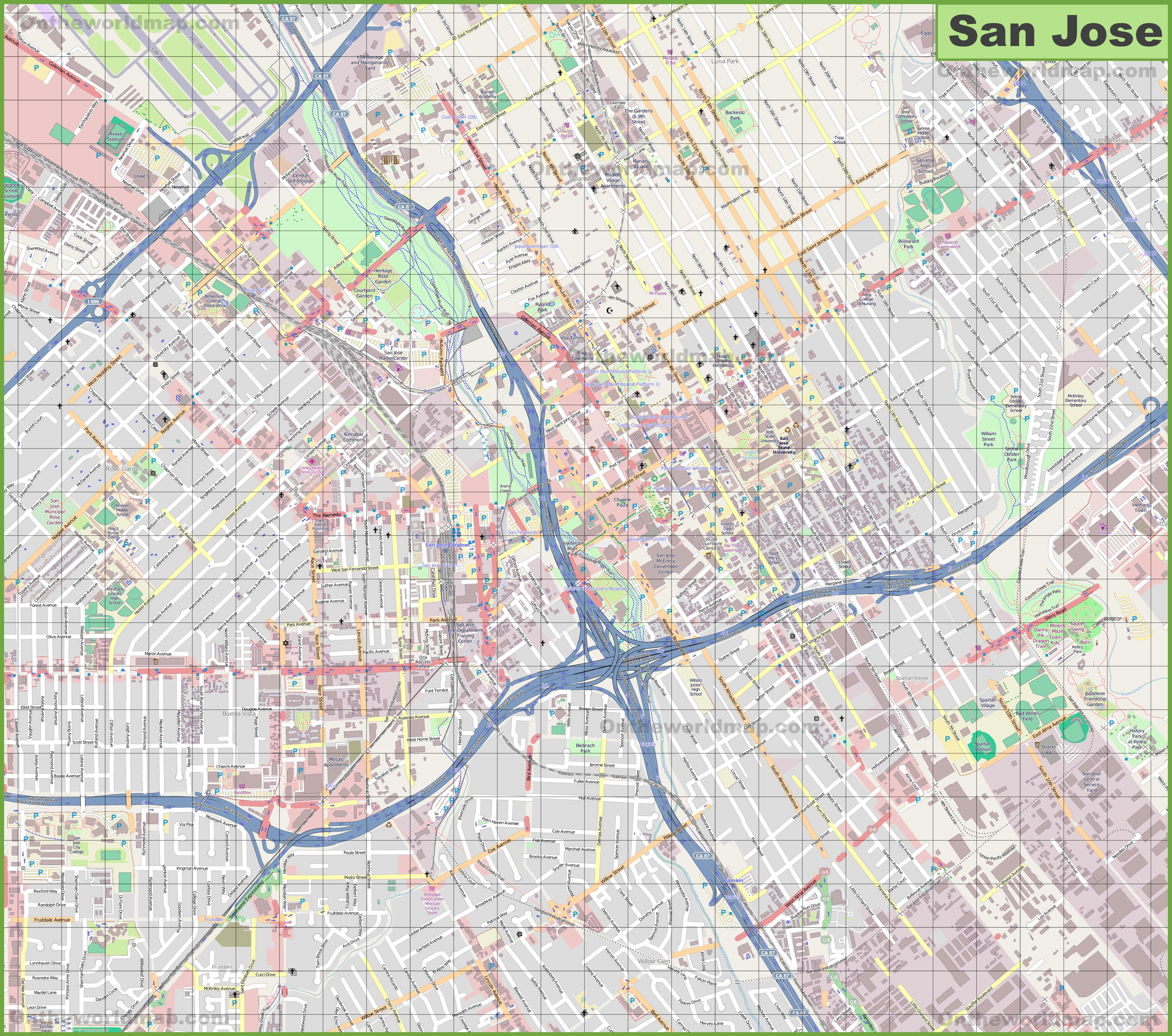 San Jose Karte