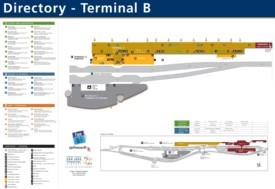 San Jose airport terminal B map