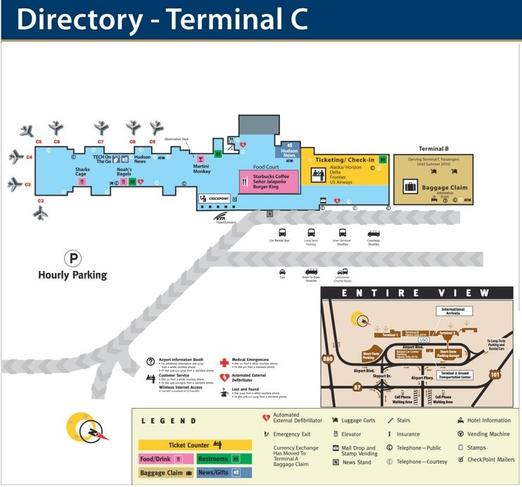 San Jose Airport Terminal C Map