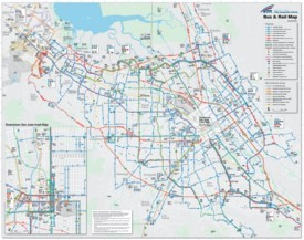 San Jose bus and rail map