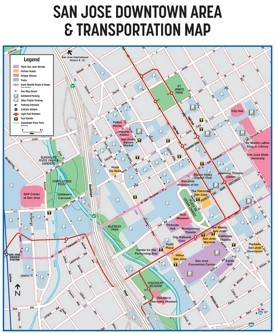 San Jose downtown transport map
