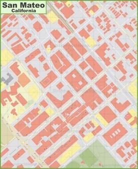 San Mateo downtown map