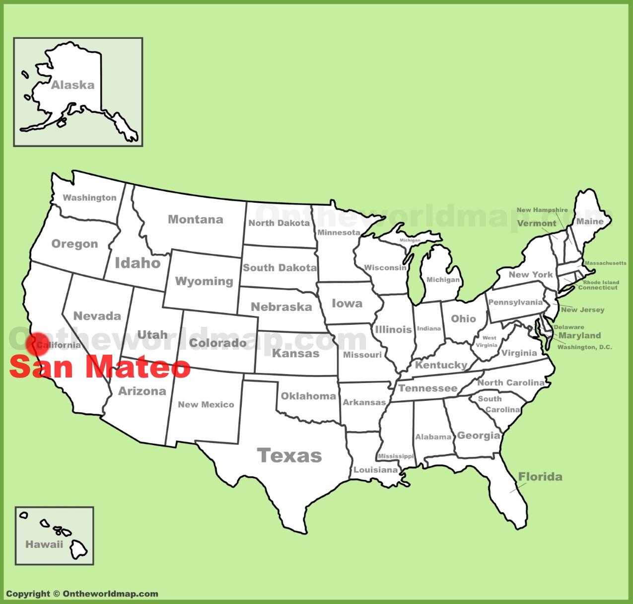 San Mateo Map San Mateo location on the U.S. Map