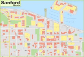 Sanford city center map