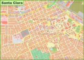 Santa Clara downtown map