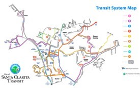 Santa Clarita transport map
