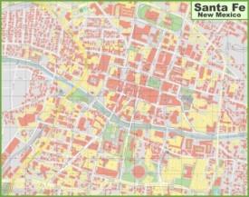 Santa Fe downtown map
