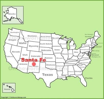 Santa Fe Map Santa Fe Maps | New Mexico, U.S. | Maps of Santa Fe Santa Fe Map