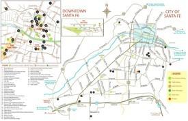 Santa Fe tourist map