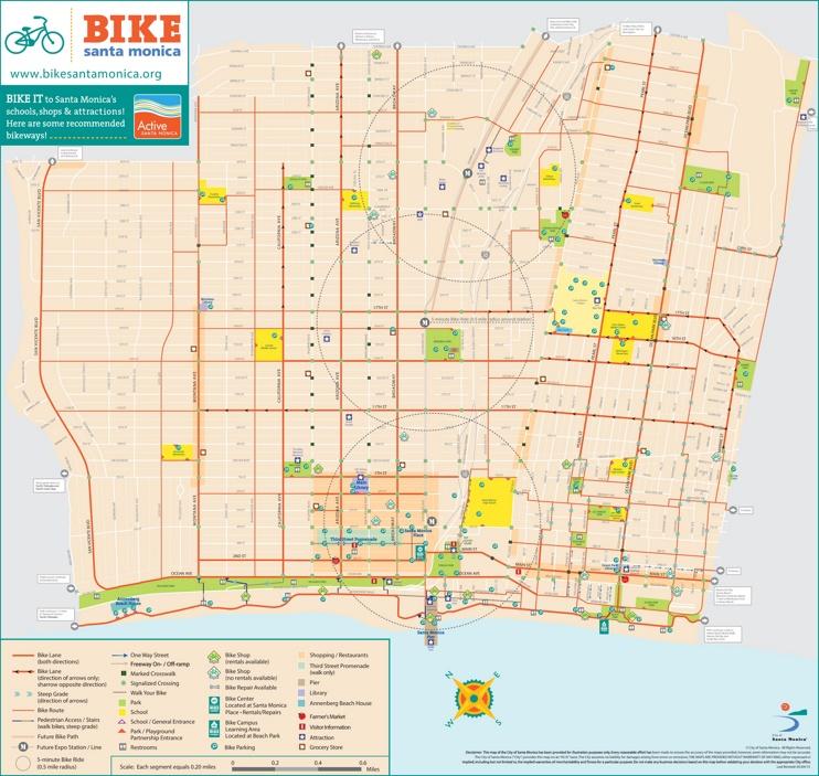 Santa Monica bike map