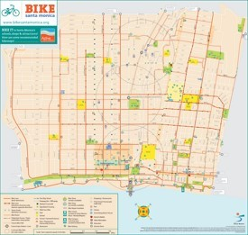 Santa Monica bike map