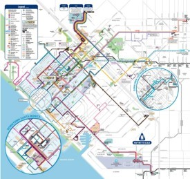 Santa Monica bus map