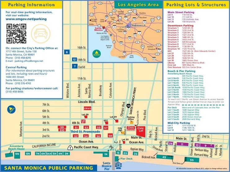 Santa Monica parking map