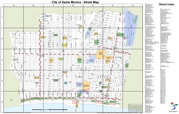 Santa Monica Street Map