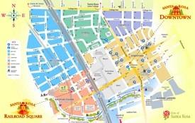Santa Rosa tourist map