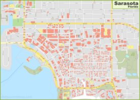 Sarasota city center map